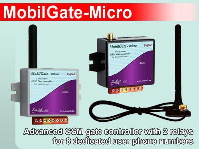 GSM gate controller